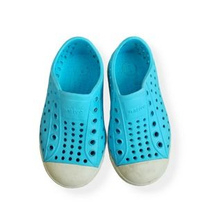 Native Glow In The Dark Toddler Boy Blue Shoes